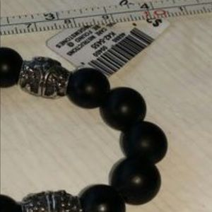 Jewelry - Men's Sterling silver oxidized 10mm beads black Ti